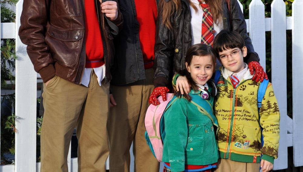 Culebra, Lucas, Sandra, Lucía y Carlitos en Los Protegidos