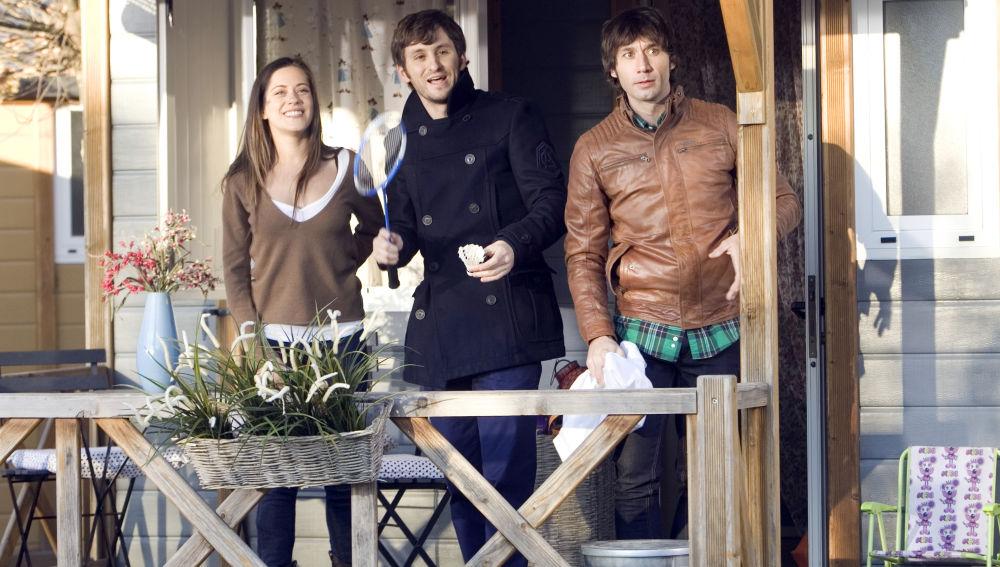 Sandra, Jorge y Ángel, en apuros dentro del camping