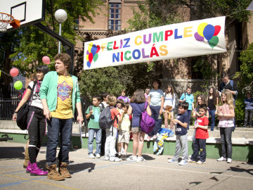 Tino y los suyos celebran el cumpleaños de Nicolás