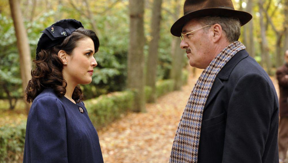 Sira Quiroga y su padre